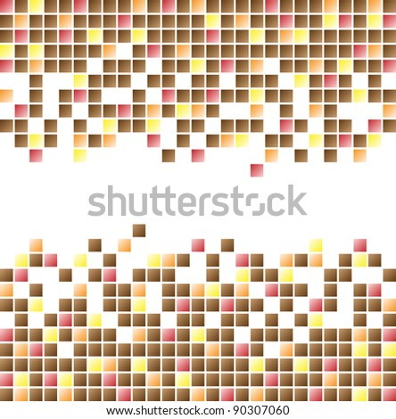 Background with squares different colors - stock vector