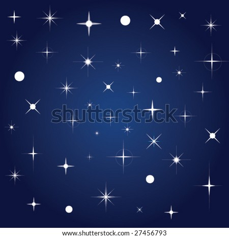 Background with stars - stock vector