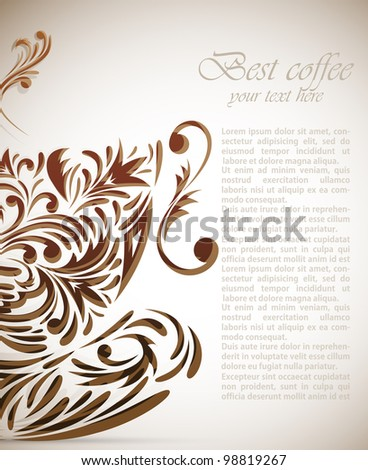 Background with style cup