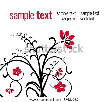Background with stylized garden flower - stock vector
