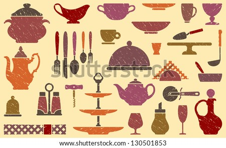 Background with tableware
