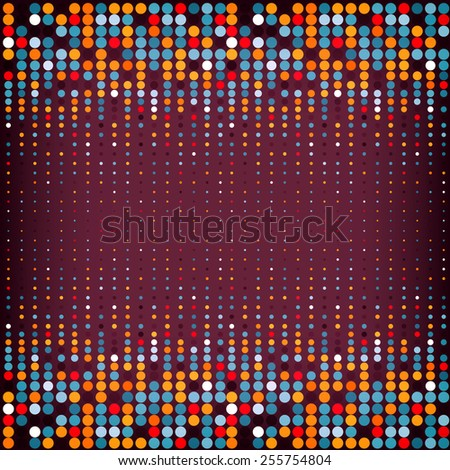 Background with the coloured circles in a vector. Eps10 illustration - stock vector