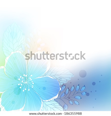 background with the image of abstract flower