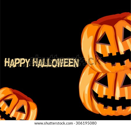 background with The Jack O'lantern happy halloween - stock vector