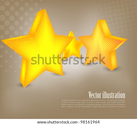 Background with three yellow stars and circle