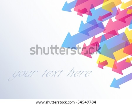 Background with transparent arrows. Includes transparencies (eps10); jpg version also available - stock vector