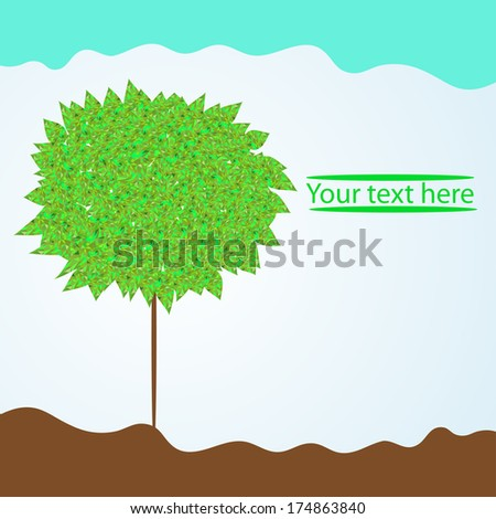 background with tree for your text