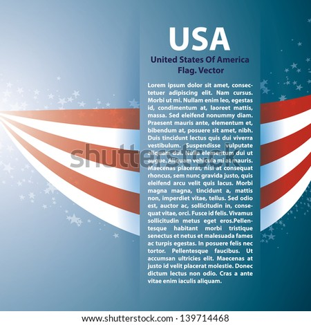 Background with USA stripes and text space - stock vector