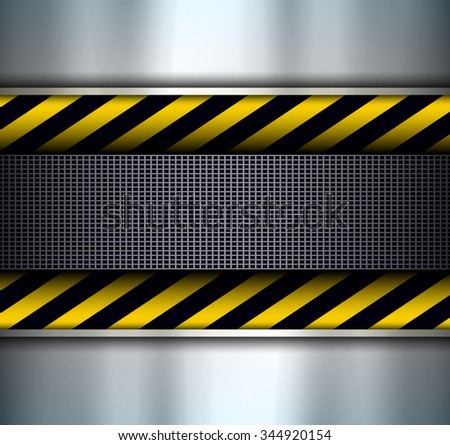 Background with warning stripes, vector illustration.