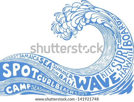 background with wave - stock vector