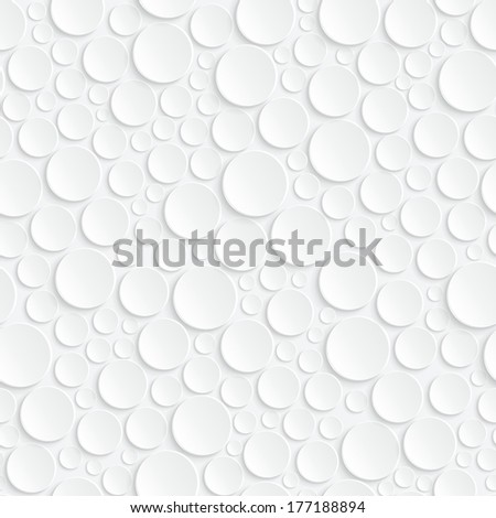 Background with white circles. Seamless pattern - stock vector