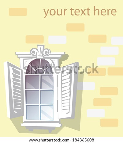 background with window - stock vector
