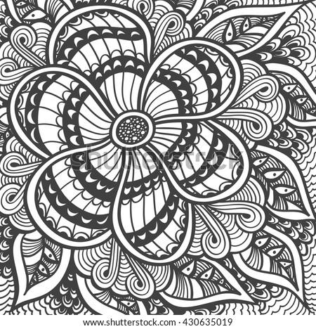 zen doodle coloring pages flower - photo#30