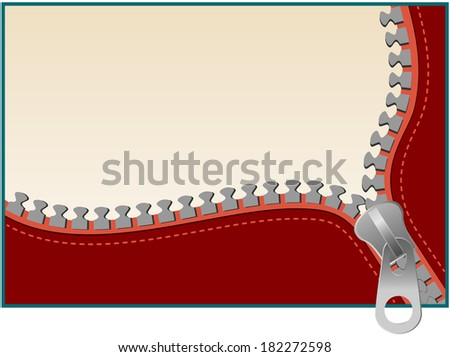 background with zipper and place for text - stock vector