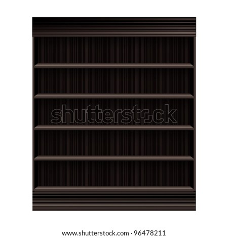 background Wooden book Shelf - stock vector