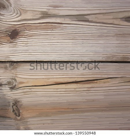 Background wooden plank - stock vector