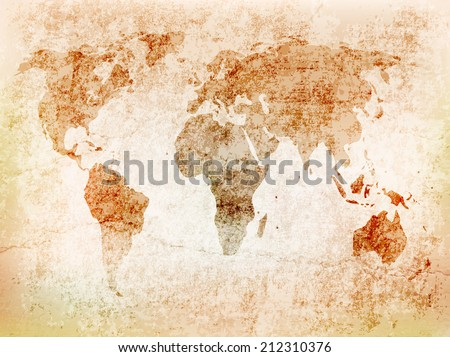 Background world map on old wall stock vector royalty free background world map on old wall with cracksctor illustration gumiabroncs Choice Image