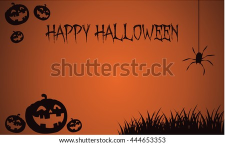 Backgrounds Halloween pumpkins and spider vector illustration