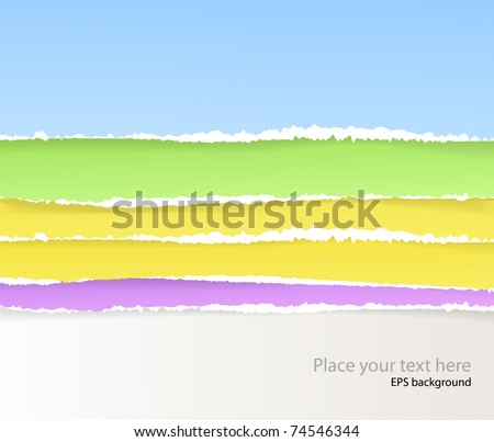 Backgrounds of divided color paper - stock vector