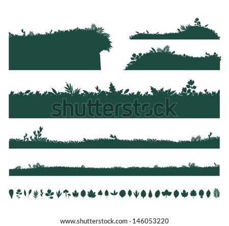Backgrounds Of Green Grass - stock vector