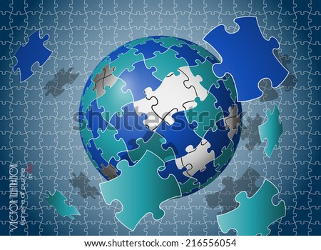 Backgrouns of puzzles eps 10 - stock vector