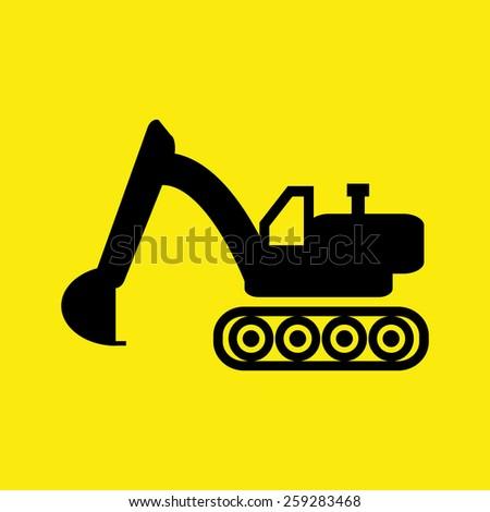 backhoe loaders - stock vector