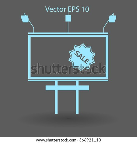 backlit advertising billboard with sale vector picture - stock vector