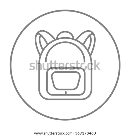Backpack line icon. - stock vector