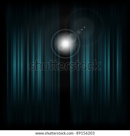 Backstage with spotlight. Vector illustration (eps10). - stock vector