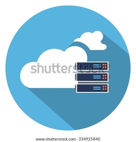 backup cloud computer icon - stock vector