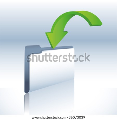 backup folder - stock vector