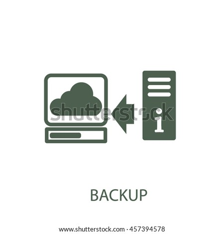 backup icon - stock vector