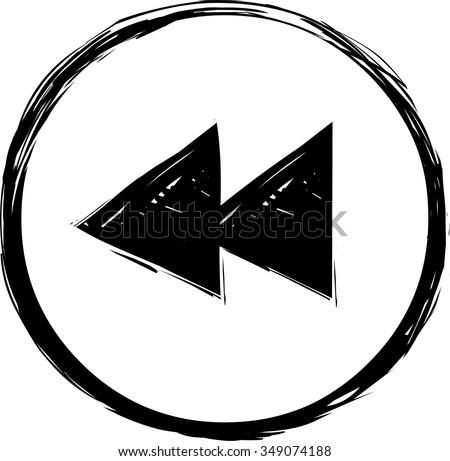 Backward icon - stock vector