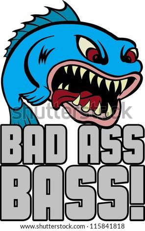 bad ass bass - stock vector