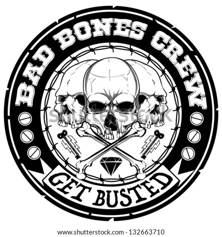 Bad bones crew - stock vector