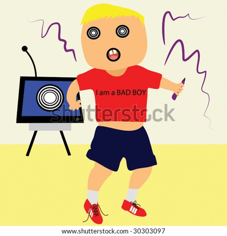 Bad Boy on the Loose - stock vector