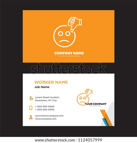 Bad review business card design template stock vector 2018 bad review business card design template visiting for your company modern horizontal identity card reheart Images