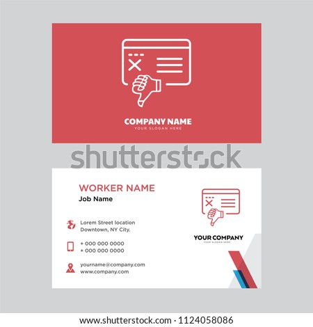 Bad review business card design template stock vector 2018 bad review business card design template visiting for your company modern horizontal identity card reheart Image collections