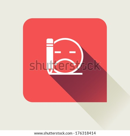 bad review flat vector icon - stock vector