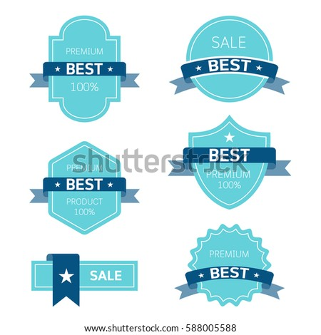 Badge and label flat modern style vector illustration.
