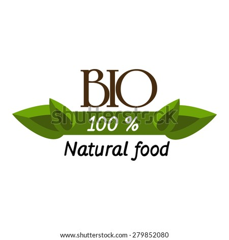 badge and labels elements for organic food and drink. Organic, bio, natural, eco, logo vector - stock vector