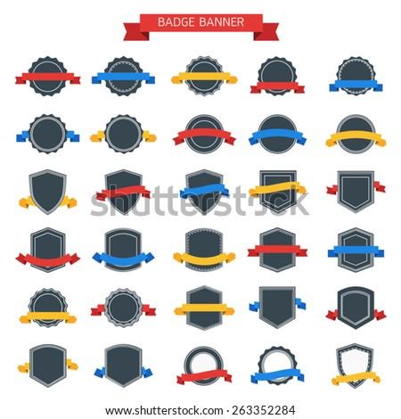 badge banner - stock vector