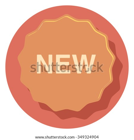badge circle icon with shadow - stock vector