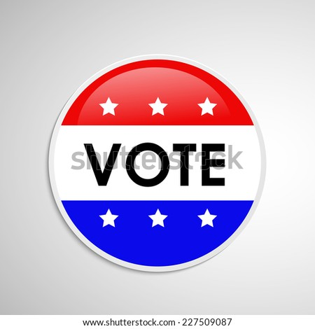 Badge for U.S.A Election Day