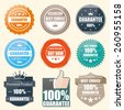 Badge Guarantee, Best choice stamp, sticker, tag, label - stock vector