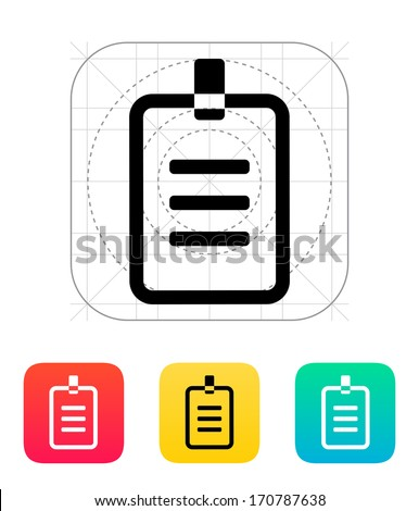 Badge icon. Vector illustration. - stock vector