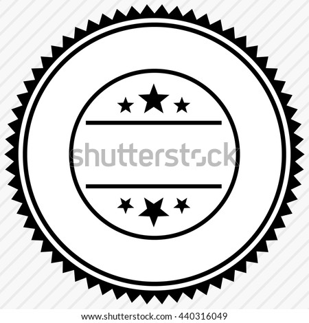 Badge seal empty space button label stock vector 440316049 for Common seal template