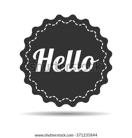 """badge with """"hello"""" word - stock vector"""