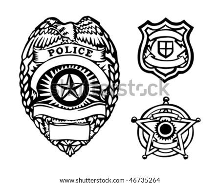 badges - stock vector