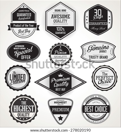 Badges and labels collection - stock vector